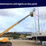LED lights at Yard